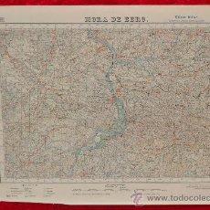 Mapas contemporáneos: ANTIGUO MAPA DE MORA DE EBRO. EDICION MILITAR. TAMAÑO GRANDE. MORA D'EBRE. Lote 209326683