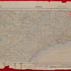 Mapas contemporáneos: ANTIGUO MAPA DE REUS. EDICION MILITAR. TAMAÑO GRANDE.. Lote 219156586