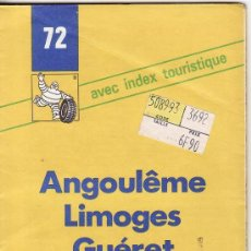 Mapas contemporáneos: == PP282 - GUIA MICHELIN - ANGOULEME - LIMOGES - GUÉRET. Lote 26180417