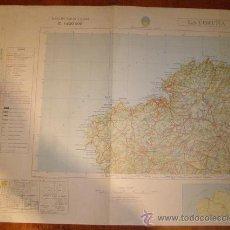 Mapas contemporáneos: MAPA MILITAR ESCALA 1:400000. ZONA DE LA CORUÑA. COORDENADAS SISTEMA UTM.. Lote 26406667