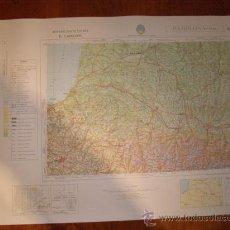 Mapas contemporáneos: MAPA MILITAR ESCALA 1:400000. ZONA DE PAMPLONA. COORDENADAS SISTEMA UTM.. Lote 26406908