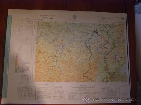 MAPA MILITAR ESCALA 1:200000. ZONA DE TORTOSA. COORDENADAS SISTEMA UTM. (Coleccionismo - Mapas - Mapas actuales (desde siglo XIX))
