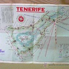 Mapas contemporáneos: MAPA, TENERIFE, LITO.A.ROMERO, , GOYA EDICIONES TENERIFE 35 X 48 CM. Lote 26581694