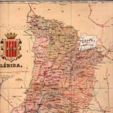 Mapas contemporáneos: MAPA LITOGRAFICO DE LERIDA. LITOGRAFIA MARTIN Y BAÑO. Lote 26877249