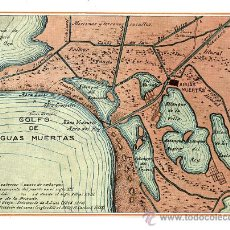 Mapas contemporáneos: AGUAS MUERTAS 1919 GOLFO PEQUEÑO MAPA. Lote 27122487