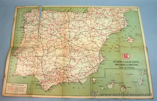 Mapa General Carreteras Espana Automovil Club E Comprar Mapas