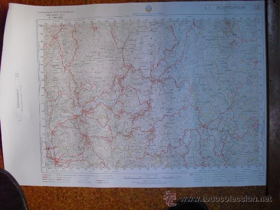 MAPA MILITAR 1:50000 SERIE L PUENTEAREAS PEÑAFIEL NAVAS DE ORO STA Mª DEL CAMPO BECERREA FONSAGRADA (Coleccionismo - Mapas - Mapas actuales (desde siglo XIX))