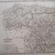 Mapas contemporáneos: AÑO 1831 * MAPA NORESTE DE ESPAÑA * DE MADRID EN VERTICAL Y HORIZONTAL * 30 CM X 24 CM * GRABADO AL. Lote 28215747
