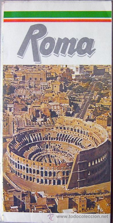 ROMA (ITALIA) PLANO CALLEJERO DE LA CIUDAD, AÑO 1990 VER FOTO ADICIONAL (Coleccionismo - Mapas - Mapas actuales (desde siglo XIX))
