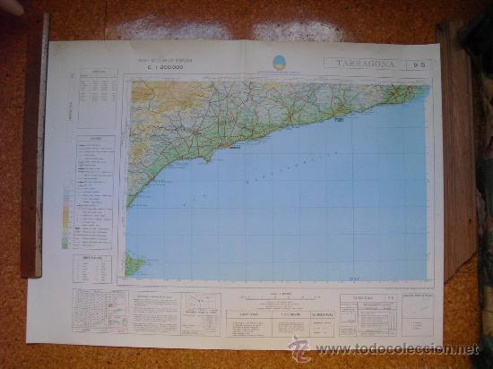 1969 MAPA DE TARRAGONA DEL MAPA MILITAR DE ESPAÑA E 1: 200000 (Coleccionismo - Mapas - Mapas actuales (desde siglo XIX))