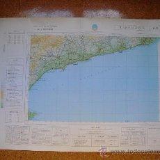 Mapas contemporáneos: 1969 MAPA DE TARRAGONA DEL MAPA MILITAR DE ESPAÑA E 1: 200000. Lote 28805083