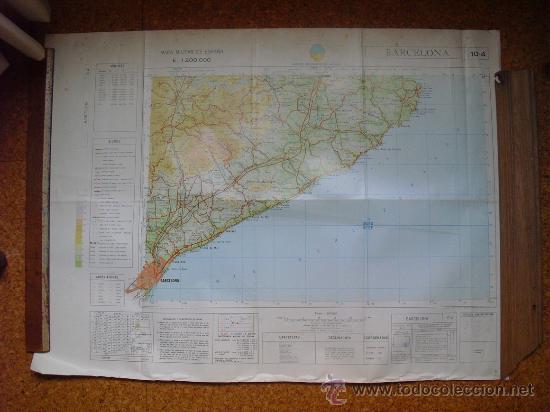 1969 MAPA DE BARCELONA DEL MAPA MILITAR DE ESPAÑA E 1: 200000 (Coleccionismo - Mapas - Mapas actuales (desde siglo XIX))
