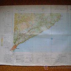 Mapas contemporáneos: 1969 MAPA DE BARCELONA DEL MAPA MILITAR DE ESPAÑA E 1: 200000. Lote 28805131