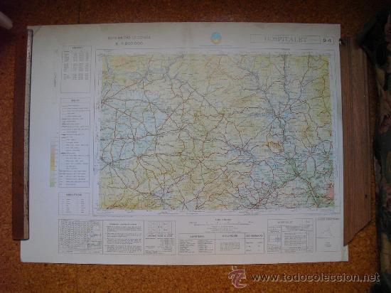 1969 MAPA DE HOSPITALET DEL MAPA MILITAR DE ESPAÑA E 1: 200000 (Coleccionismo - Mapas - Mapas actuales (desde siglo XIX))