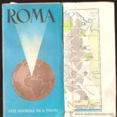 Mapas contemporáneos: PLANO DE ROMA - AÑO 1954. Lote 28811388
