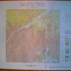 Mapas contemporáneos: 1962 MAPA GEOLOGICO DE LOS ALREDEDORES DE ARCOS DE JALON. Lote 28865528