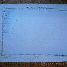 Mapas contemporáneos: PRIMERA EDICION EN 1941 DEL MAPA DE FARO DE OROPESA E 1:50000 EDICION EN VARIAS TINTAS. Lote 28897774