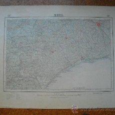 Mapas contemporáneos: PRIMERA EDICION EN 1926 DEL MAPA DE REUS E 1:50000 EDICION CARTULINA EN VARIAS TINTAS. Lote 28899536