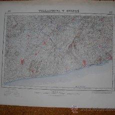 Mapas contemporáneos: PRIMERA EDICION EN 1928 DEL MAPA DE VILLANUEVA Y GELTRU E 1:50000 EDICION CARTULINA EN VARIAS TINTAS. Lote 28899636