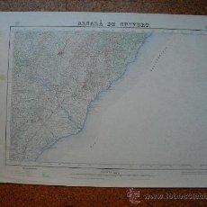 Mapas contemporáneos: PRIMERA EDICION EN 1943 DEL MAPA DE ALCALA DE CHIVERT E 1:50000 EDICION EN VARIAS TINTAS. Lote 28900037