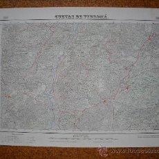 Mapas contemporáneos: PRIMERA EDICION EN 1952 DEL MAPA DE CUEVAS DE VINROMA E 1:50000 EDICION EN VARIAS TINTAS. Lote 28900049