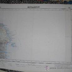 Mapas contemporáneos: SEGUNDA EDICION EN 1949 DEL MAPA DE ESTARTIT E 1:50000 EDICION EN VARIAS TINTAS. Lote 28907008