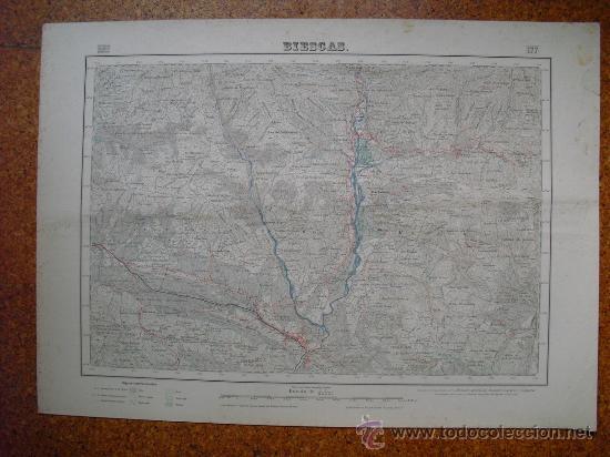 SEGUNDA EDICION EN 1952 DEL MAPA DE BIESCAS E 1:50000 EDICION EN VARIAS TINTAS (Coleccionismo - Mapas - Mapas actuales (desde siglo XIX))