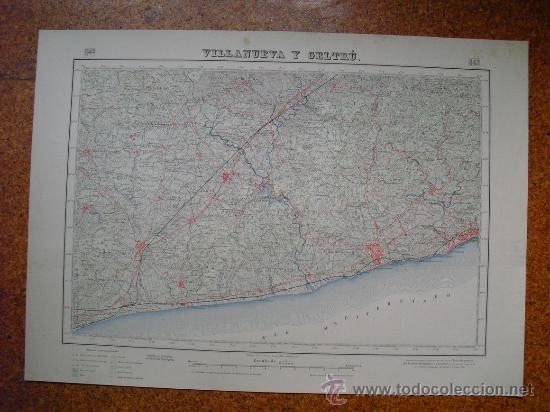 SEGUNDA EDICION EN 1952 DEL MAPA DE VILLANUEVA Y GELTRU E 1:50000 EDICION EN VARIAS TINTAS (Coleccionismo - Mapas - Mapas actuales (desde siglo XIX))