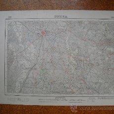 Mapas contemporáneos: SEGUNDA EDICION EN 1952 DEL MAPA DE HUESCA E 1:50000 EDICION EN VARIAS TINTAS. Lote 28915601