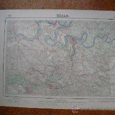 Mapas contemporáneos: SEGUNDA EDICION EN 1954 DEL MAPA DE HIJAR E 1:50000 EDICION EN VARIAS TINTAS. Lote 28915620