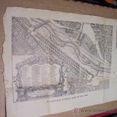 Mapas contemporáneos: VALENCIA - PLANO DE VALENCIA, CON PUBLICIDAD - 32 X 21 CM - 1912 ?. Lote 29242946