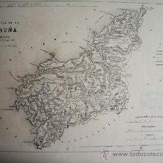 Mapas contemporáneos: 1868-MAPA DE CORUÑA. ATLAS GEOGRÁFICO DE ESPAÑA.RUBIO, GRILO Y VITTURI.ORIGINAL. Lote 29372983