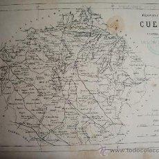 Mapas contemporáneos: 1868-MAPA DE CUENCA. ATLAS GEOGRÁFICO DE ESPAÑA.RUBIO, GRILO Y VITTURI.ORIGINAL. Lote 29373120