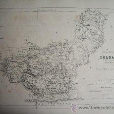 Mapas contemporáneos: 1868-MAPA DE GRANADA. ATLAS GEOGRÁFICO DE ESPAÑA.RUBIO, GRILO Y VITTURI.ORIGINAL. Lote 29374120