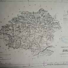 Mapas contemporáneos: 1868-MAPA DE SORIA. ATLAS GEOGRÁFICO DE ESPAÑA.RUBIO, GRILO Y VITTURI.ORIGINAL. Lote 29378527