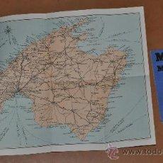 Mapas contemporáneos: ANTIGUO MAPA PLANO DE MALLORCA, CON FUNDA. MIDE 32 CM X 45 CM. Lote 29529976