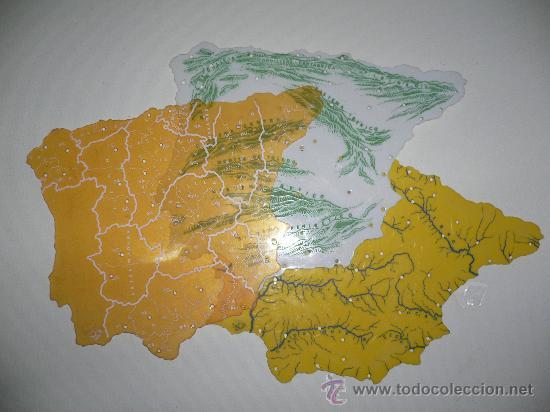 LOTE DE TRES MAPAS DE ESPAÑA FISICO POLITICO - 3 PLANTILLAS ESCOLARES (Coleccionismo - Mapas - Mapas actuales (desde siglo XIX))