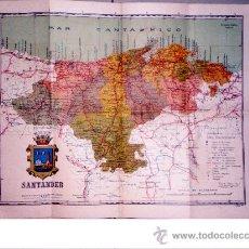 Mapas contemporáneos: 1929. MAPA-GUIA DE LA PROVINCIA DE SANTANDER.. Lote 29597674