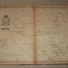 Mapas contemporáneos: MAPA DE CÁDIZ DEL ATLAS POSTAL DE ESPAÑA DE 1913 DE ALBERTO MARTIN. 35,5 X 26,7 CM. Lote 29880866
