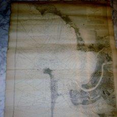 Mapas contemporáneos: PLANO BAHIA DE CADIZ 1874 COMISION HIDROGRAFICA. Lote 112640935