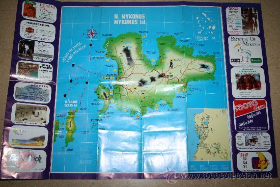 Mapas contemporáneos: MAPA TURÍSTICO - MYKONOS - EN GRIEGO, INGLÉS, ALEMÁN, FRANCÉS Y ITALIANO - Foto 2 - 29920576