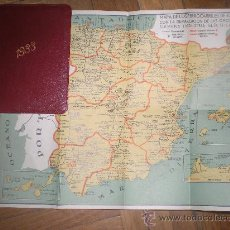 Mapas contemporáneos: MAPA DE LOS FERROCARRILES DE ESPAÑA AÑO 1933 25 X 20 CM .INCORPORADO A AGENDA SIEMENS DEL 1933. Lote 30404716