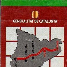 Mapas contemporáneos: MAPA EIX TRANSVERSAL DE CATALUNYA: TRAM VIC-GIRONA - GENERALITAT DE CATALUNYA AÑOS 90. Lote 30668498