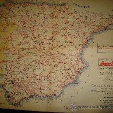 Mapas contemporáneos: PLANO DE LAS CARRETERAS DE ESPAÑA, EDITADO POR EL REAL AUTOMÓVIL CLUB DE ANDALUCÍAM, SEVILLA, 1930. Lote 31154425