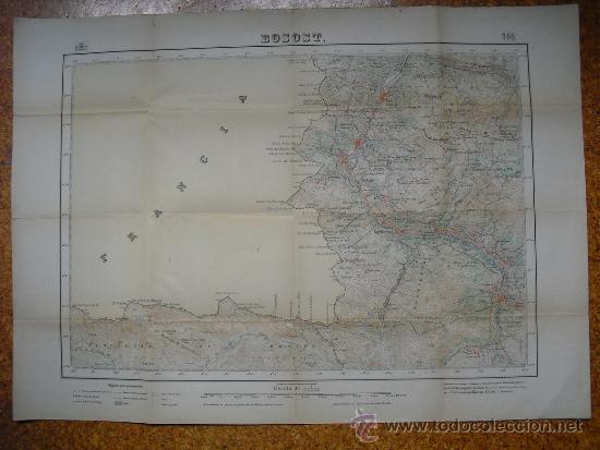 1950 MAPA DE BOSOST 1:50000 EN VARIAS TINTAS 2ª EDICION INSTITUTO GEOGRÁFICO Y CATASTRAL (Coleccionismo - Mapas - Mapas actuales (desde siglo XIX))