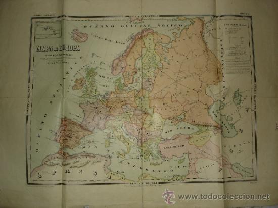 MAPA DE COLEGIO - MAPA DE EUROPA CON LAS NUEVAS NACIONALIDADES - CARTELES GEOGRAFICOS MAPA Nº 2 (Coleccionismo - Mapas - Mapas actuales (desde siglo XIX))
