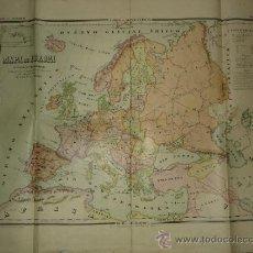 Mapas contemporáneos: MAPA DE COLEGIO - MAPA DE EUROPA CON LAS NUEVAS NACIONALIDADES - CARTELES GEOGRAFICOS MAPA Nº 2 . Lote 31645458