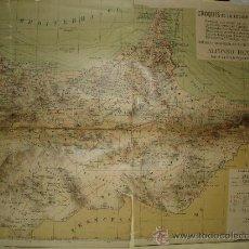 Mapas contemporáneos: CROQUIS DE LA REGION DE MELILLA - ALFONSO REY PASTOR - AÑO 1921 - . Lote 31645622