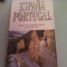 Mapas contemporáneos: MAPA DE CARRETERAS ESPAÑA Y PORTUGAL ESCALA 1:1,000.000 / AÑO 1996/1997 EDIGRAF, A.A. Lote 31570086