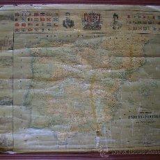 Mapas contemporáneos: ANTIGUO MAPA DE 1902 RED DE FERROCARRILES DE ESPAÑA Y PORTUGAL 1,10X80 ALFONSO XIII. Lote 31734728